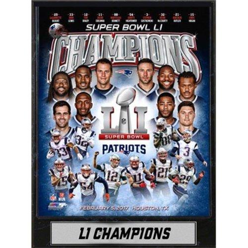 Encore Select 297-67 9 x 12 in. Plaque - Super Bowl 51 Champions, New England Patriots