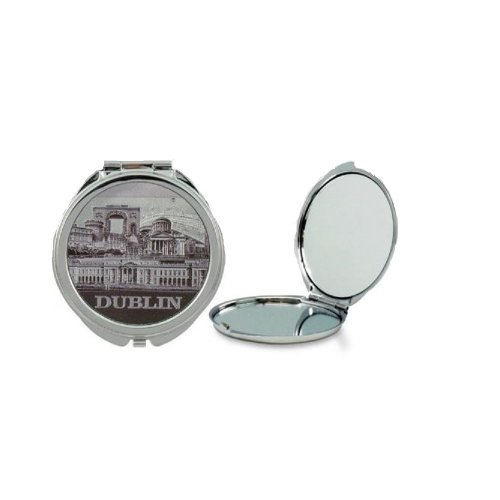 Compact Pocket Mirror Makeup Dublin Foil Stamped Irish Ireland Souvenir Gift