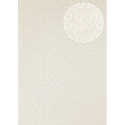 Atlas PRI-559-2 Graphic wallpaper shimmering oyster-white 5.33 sqm