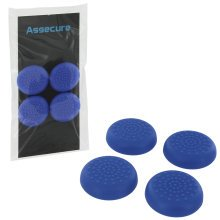 Assecure TPU protective analogue thumb grip stick caps for Sony PS4 controllers [Playstation 4] - 4 pack - blue