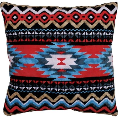 12 x 12 in. Southwest Needlepoint Kit - Stitched in Yarn