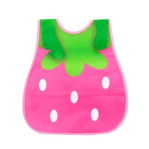 Baby Boys Girls Peva Bibs Pocket Animal Plastic Waterproof Feeding Pink Blue 15