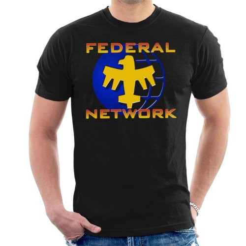 Starship Troopers Federal Network Gold Blue Logo Men's T-Shirt