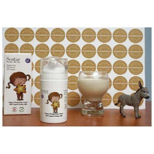 Greek Baby Cream For Changing Nappy Diaper With Bio Donkey Milk 75ml
