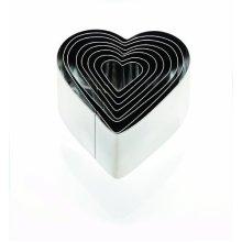 Eddingtons 8-piece Deep Heart Cookie Cutter Set