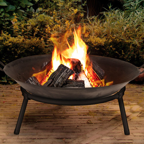 Cast Iron Fire Bowl Traditional Log Fire Pit Outdoor Heating Camp Site