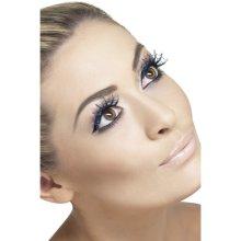 Smiffy's Spiderwebs Eyelashes With Glitter - Blue -  eyelashes halloween glitter fancy dress blue spiderweb witch