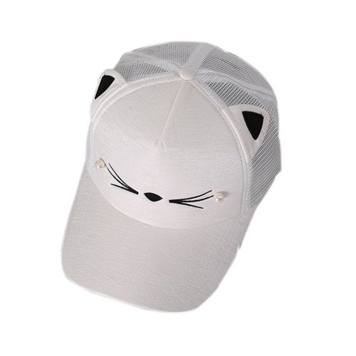 Cat Caps Fashion Caps Ladies Baseball Caps Sun Cap Women Golf Hats White