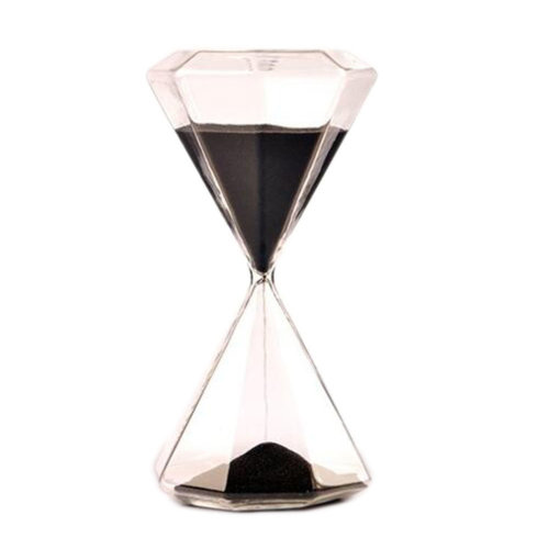 30 Minute Diamond Shape Countdown Timer Hourglass Sand Clock Timers-Black