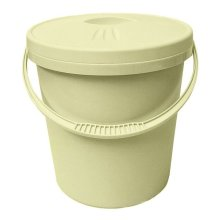 Junior Joy Nappy Bucket With Lid - 16 Litre Cream