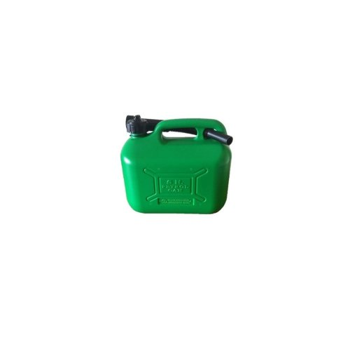 Unleaded Fuel Can - Green Plastic - 5 Litre