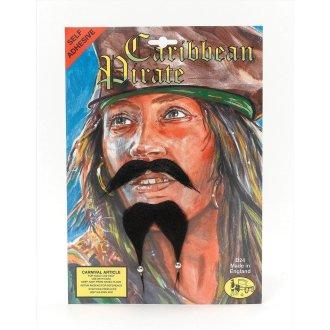 Bristol Novelty Caribbean Pirate Beard And Moustache Set