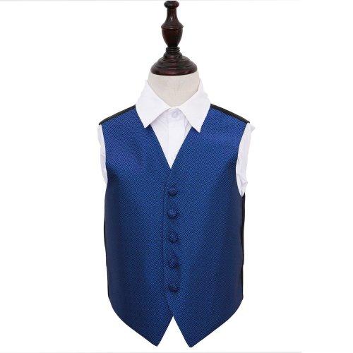 Royal Blue Greek Key Wedding Waistcoat for Boys 32'