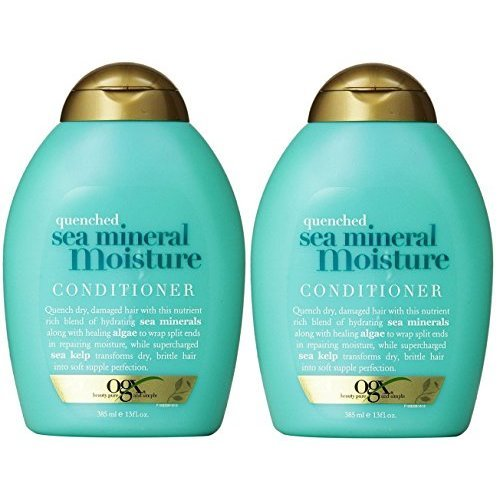 OGX Conditioner, Quenched Sea Mineral Moisture, 13 Ounce (Pack of 2)