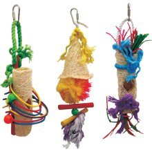 Caribbean Coco Bird Toy Mix A - Beaks Coco Hanging Budgie Small Parrot Preening -  beaks caribbean cocoa hanging budgie small parrot preening toy 3