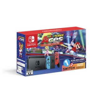 Nintendo Switch with Mario Tennis Aces & 1-2-Switch Bundle LIMITED EDN