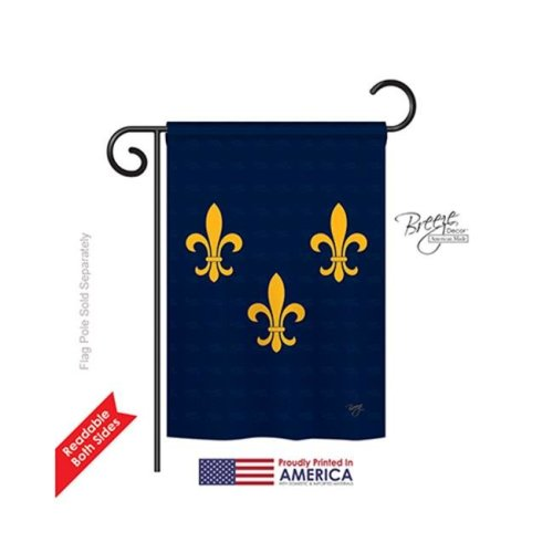 Breeze Decor 68004 Mardi Gras Midwest French American 2-Sided Impression Garden Flag - 13 x 18.5 in.