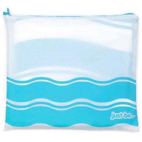 just be... Microfibre Wave Beach Towel - Blue XX Large 200 x 90cm