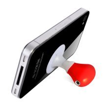 Audio Splitter Stand For Phone -  audio splitter stand red thumbs up