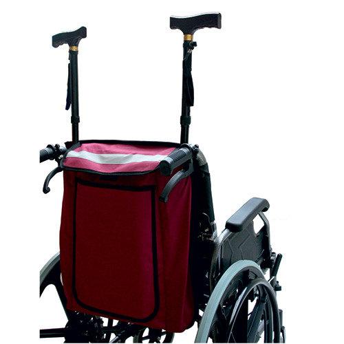 Universal Wheelchair Bag Carries 2 Crutches or Walking Sticks