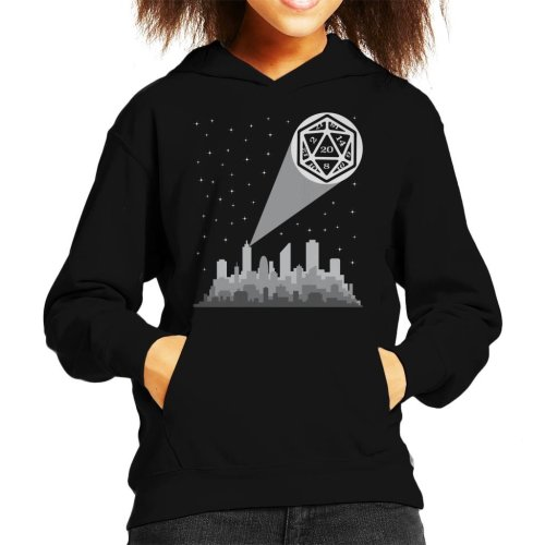 Dungeons And Dragons Night Sky Sihouette Kid's Hooded Sweatshirt
