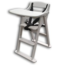 Safetots Putaway Folding Wooden High Chair