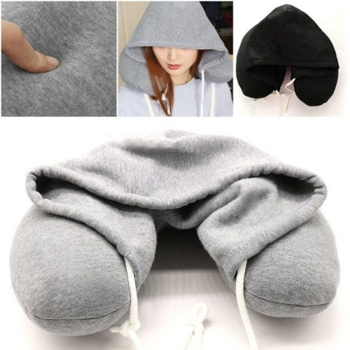 Soft Comfortable Hooded Neck Travel Pillow