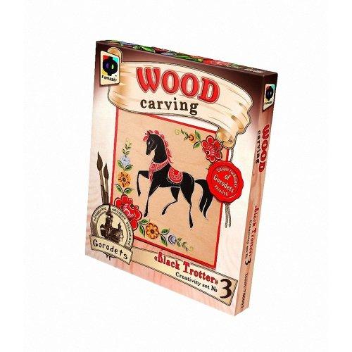 Elf706003 - Fantazer - Wood Carving - Black Trotter