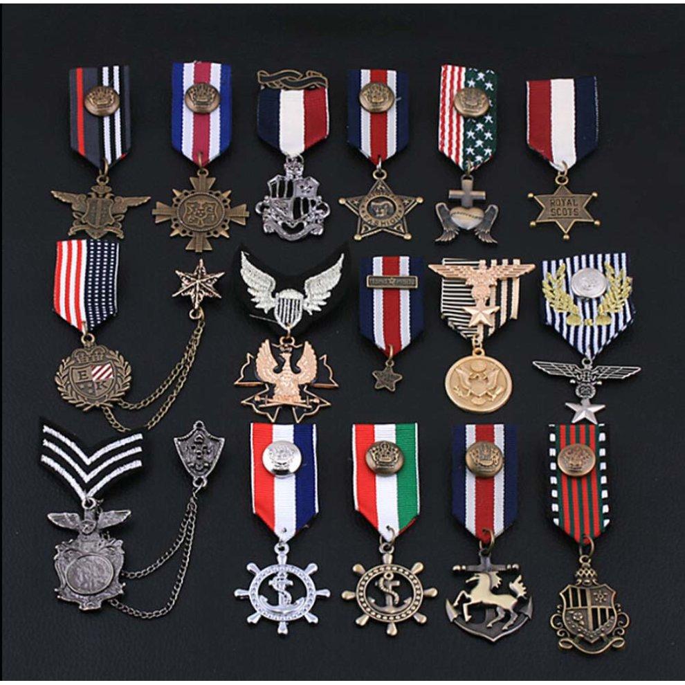 07d88a9de ... 2 PCS Unisex Decoration Accessories Navy Brooch Korea Style Badge - 1. >
