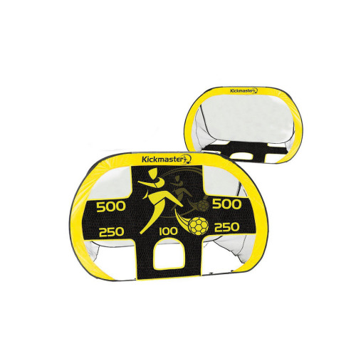 MV Sports Kickmaster Quick Up Football Goal & Target Shot 2 in 1 Portable Goal With In Built Target Shot Carry Bag Included Ages 5 Years+