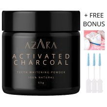 Charcoal Teeth Whitening | Activated Charcoal Natural Teeth Whitening Powder