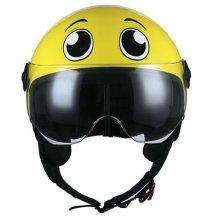 BHR Motorcycle Helmet Demi-Jet Line One 801, eyes yellow, M (57/58 cm)