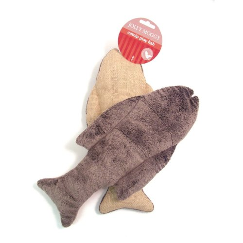 Jolly Moggy Catnip Play Fish (Pack of 3)