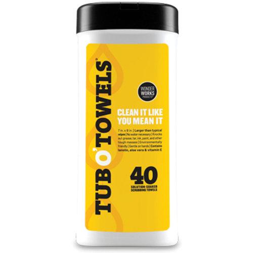"Tub O' Towels 7""X8"" 40/Pkg -"