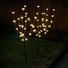 Warm White Solar Garden Ornamental Stylish Blossom Branch Tree 60 LED Lights
