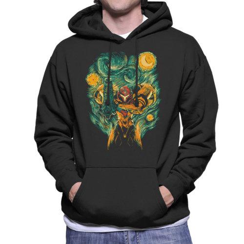 Starry Hunter Metroid Semus Night Men's Hooded Sweatshirt