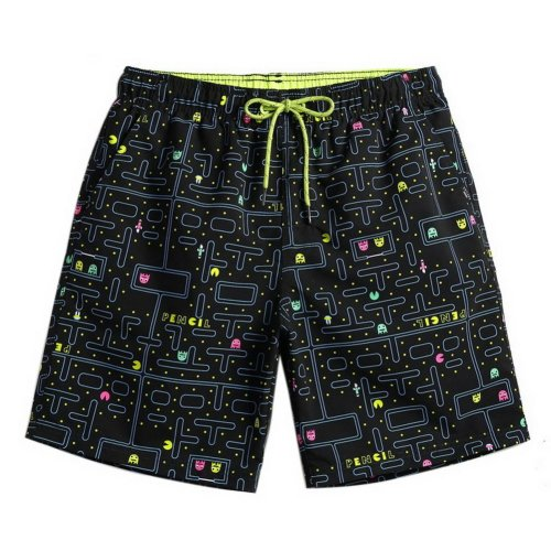 Men's Sports Casual Beach Loose Fashion Shorts, Maze Illustration