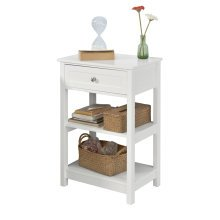 SoBuy® FBT46-W, End Table Side Table Lamp Table Night Stand Bedside Table, White