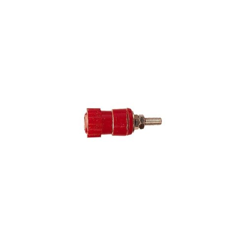 Superior Binding Post Insulated Terminal for 4 mm Banana Plugs, Bare Wire or Spade Terminals - Colour Red