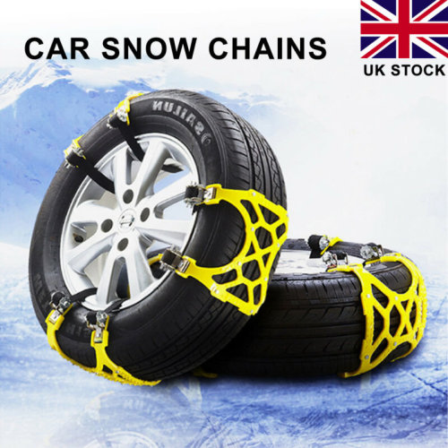 3pcs Car Vehicle Truck Snow Chain Tire Chain Beef Tendon Wheel Anti-skid Belt UK