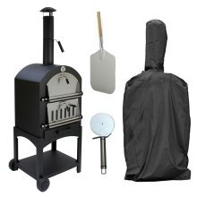 Outdoor Pizza Oven & Charcoal Barbecue | Multi-Function Garden Oven
