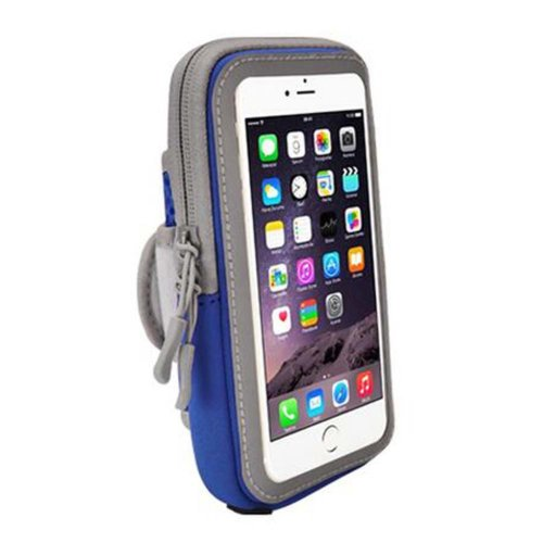 [Blue] Fashion Arm Package Cell Phone Armband Wrist Pack Outdoor Sports Armband