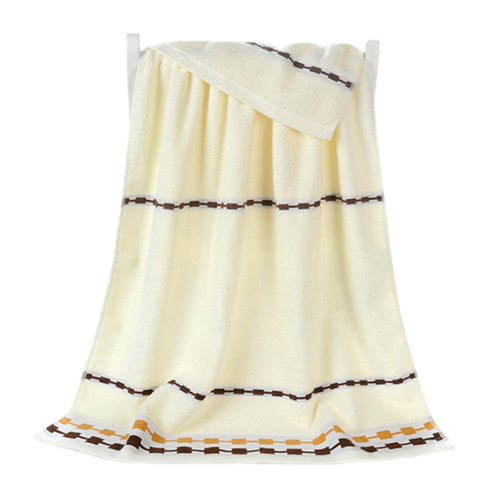100% Cotton Soft Large Beach Towels 140*70cm, Beige