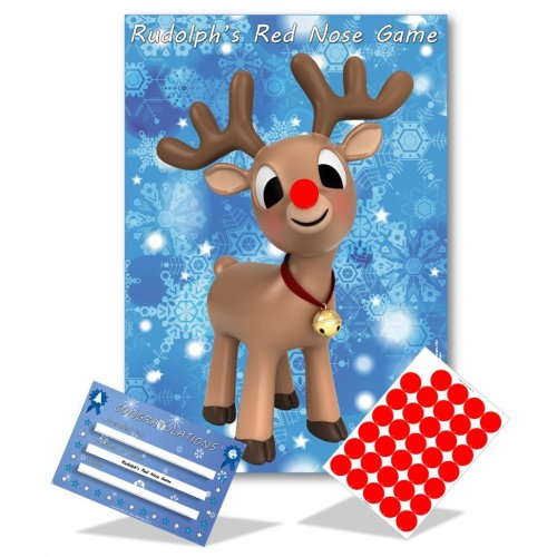 Stick The Nose On Rudolph | Christmas Game