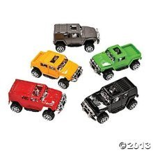 Pullback Assorted Colors SUV Assortment-Plastic (12 Count)/Toys/Cars/Trucks/Prizes/Goody Bags/Birthday Gift