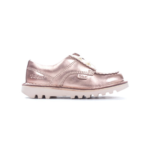 Kickers Kick Lo F Leather Infant Girls Kids Shoe Boot Rose Gold