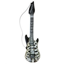 Inflatable Skeleton Guitar 105cm - Fancy Dress Halloween Slash Rock 105 -  inflatable skeleton guitar fancy dress halloween slash rock 105cm