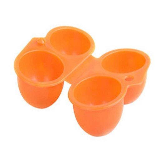 Set of 2Orange Foldable Plastic Kitchen Egg Boxes/Egg Trays Two