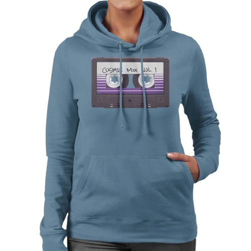 Marvel Guardians Of The Galaxy Cosmic Mix Cassette Tape Women's Hooded Sweatshirt