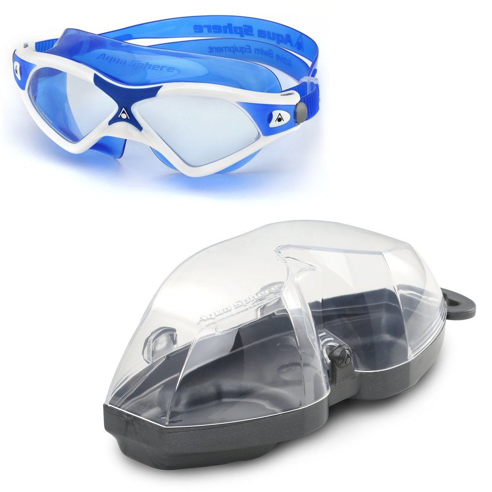 20c5ef466d74 ... Aqua Sphere Seal XP2 swimming Mask with Clear Lens - White Blue - 5 ...